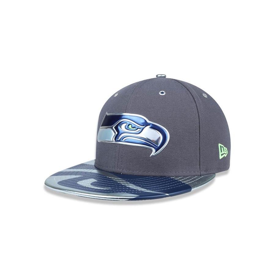 74ff73d0f Boné Aba Reta New Era 5950 Seattle Seahawks NFL 8975 - Fechado - Adulto