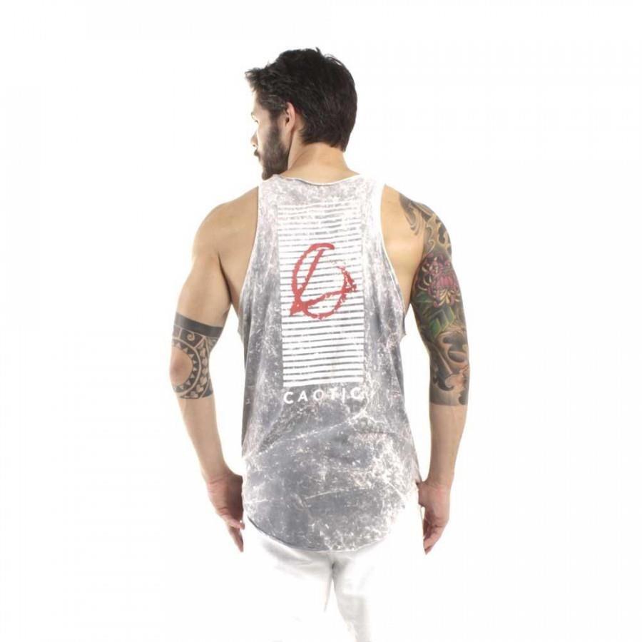 Camiseta Regata Longline Brohood Caotic - Masculina b0737d70ef0