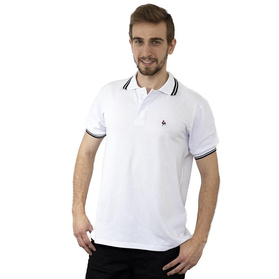 Camisa Polo do Atlético-MG Foco Basic Galo Volpi Gola e Punho - Masculina 73d3cfe180048