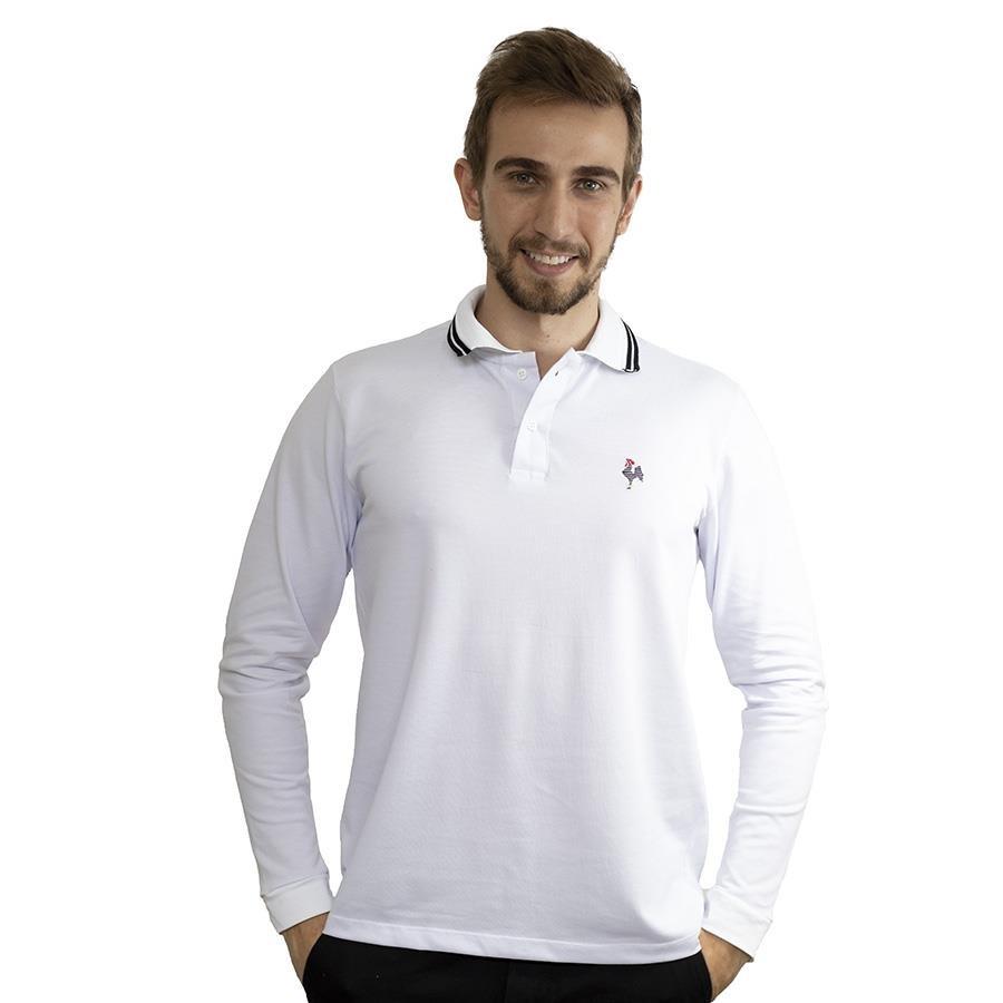 66f1521970 Camisa Polo Manga Longa do Atlético-MG Foco Basic - Masculina