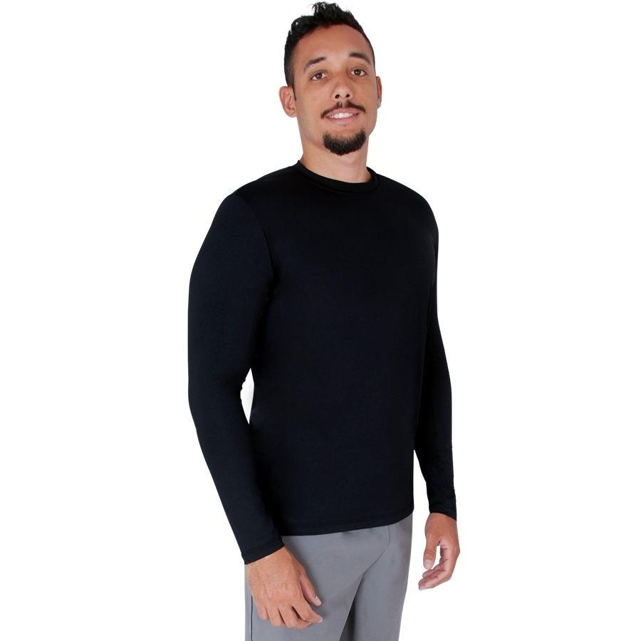 a3d6f58088d9b Camiseta Manga Longa Roupas Térmicas com Proteção Solar UV 50+ Permanente Térmica  Respirável - Masc.