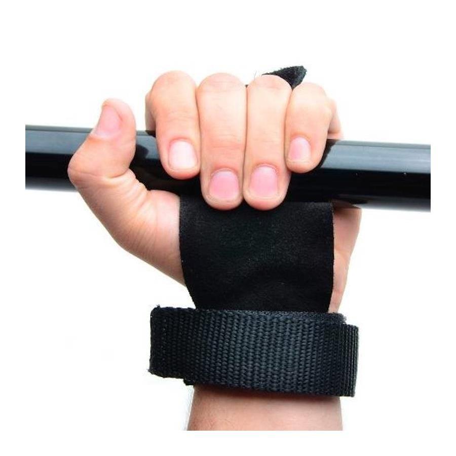 88e1cf59f9 Luva de Hand Grip Yang Fit para Treino Funcional Pull Up Couro para Mãos  Musculação