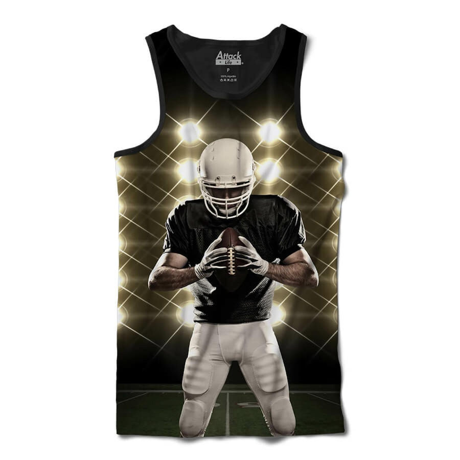 Camiseta Regata Attack Life Futebol Americano Defensor - Masculina 395b7425ac3f1