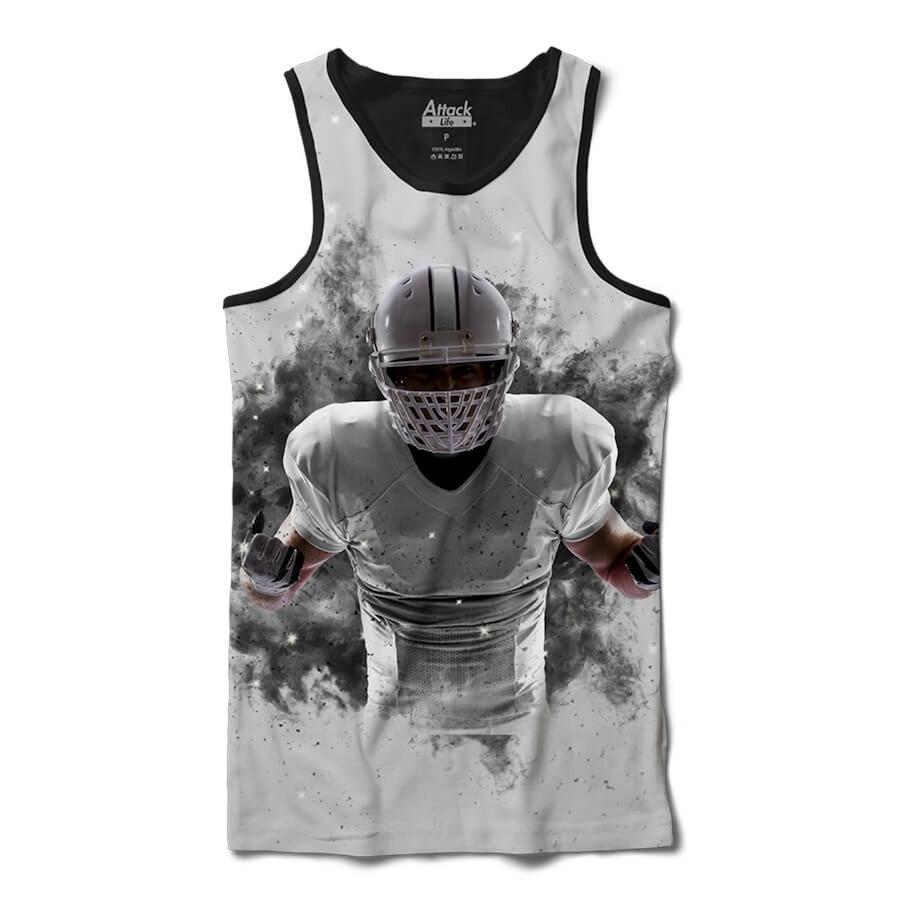 b1d1d355a12a7 Camiseta Regata Attack Life Futebol Americano Explosivo - Masculina