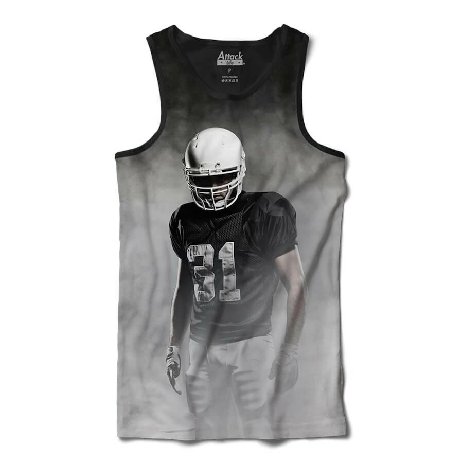 Camiseta Regata Attack Life Futebol Americano Presença - Masculina 0bb2d3cac31ae