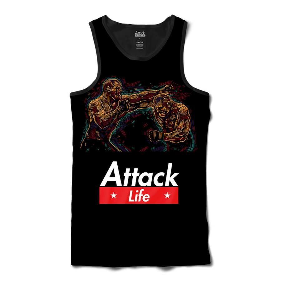ca30c3876e74c Camiseta Regata Attack Life Lutas e Musculação Lutando MMA - Masculina