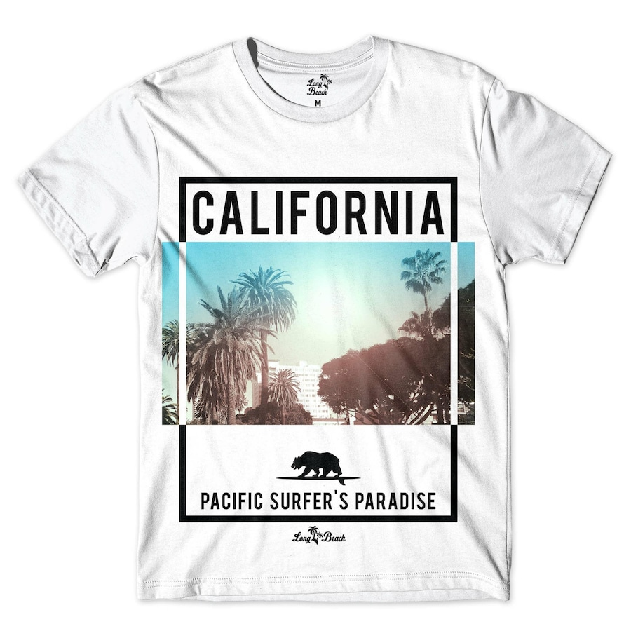 Camiseta Long Beach Paraíso do Surf - Masculina b3be950676e