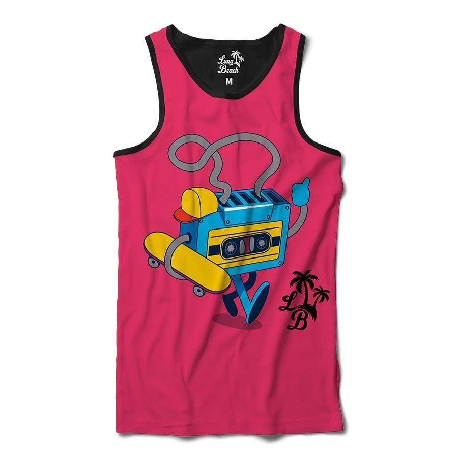 Camiseta Regata Long Beach Fita Skate - Masculina 1c5a389244d