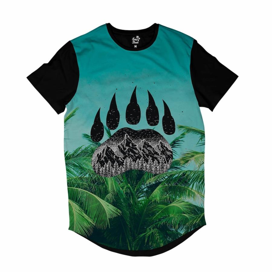 b9a26fa95c7bd Camiseta Longline Long Beach Pegada de Urso Palmeira - Masculina