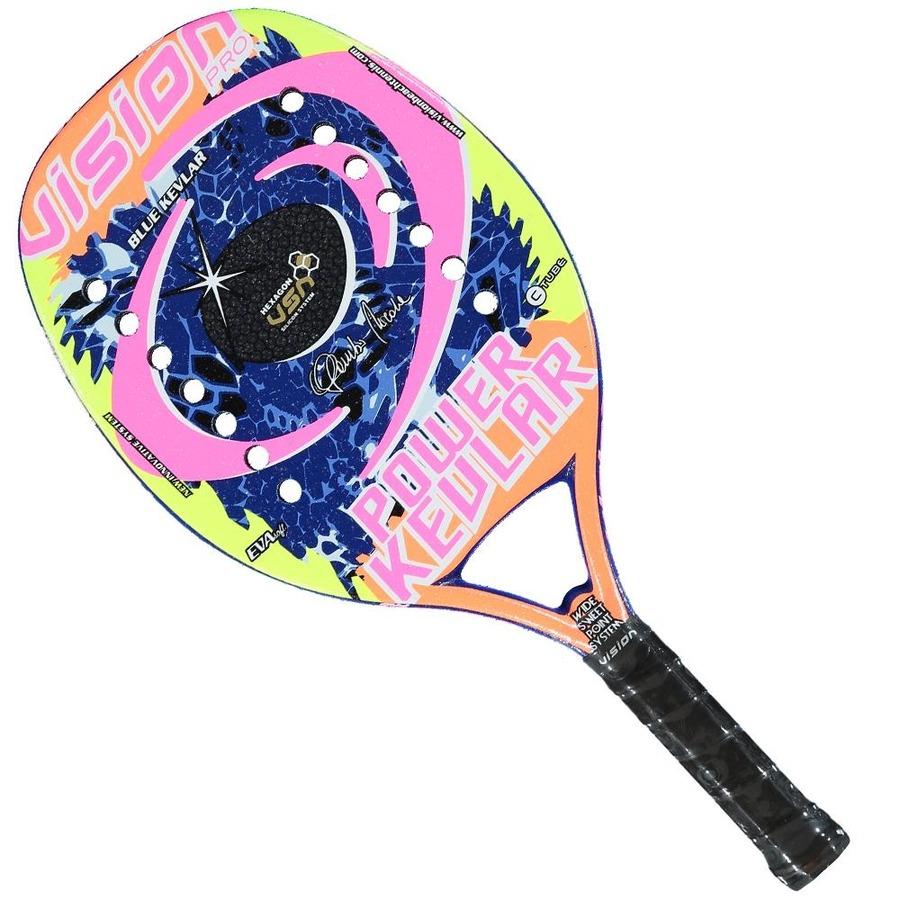 09286e13d Raquete de Beach Tennis Vision Power Kevlar - 50 - 2018