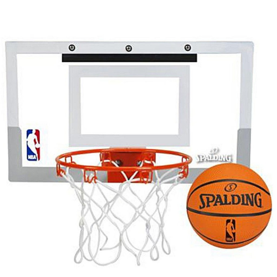 Kit de Basquete  Mini Tabela de Spalding Arena Slam 180 + Aro + Bola 044f51748f059