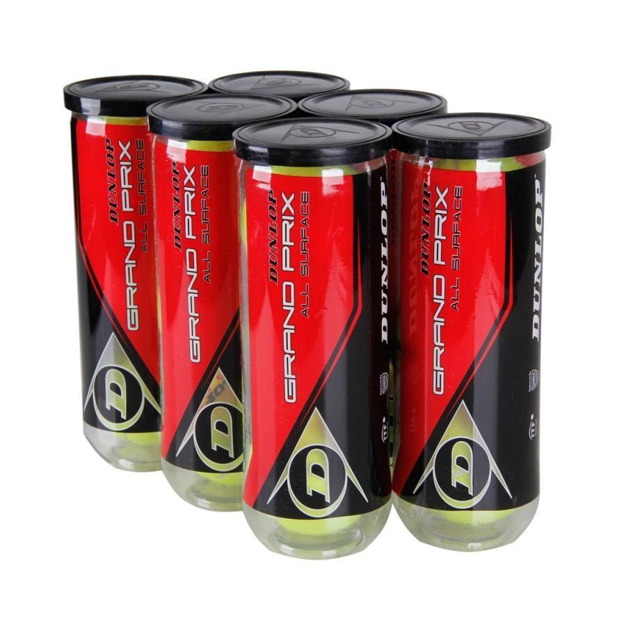 d0c7206aa8 SixPack de Bola de Tênis Dunlop Grand Prix All Surface X3 - 6 Tubos com 3  Bolas Cada