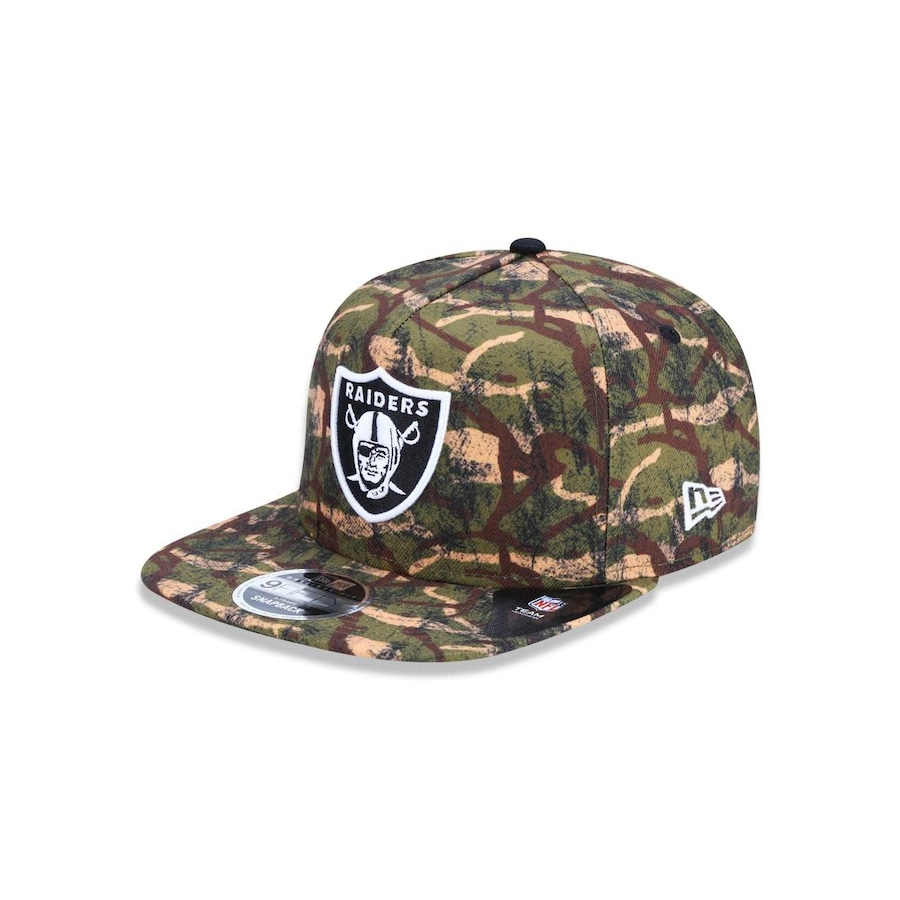 BONE 950 ORIGINAL FIT OAKLAND RAIDERS NFL ABA RETA SNAPBACK MARROM NEW ERA  - 44595 c2f0b2e3095