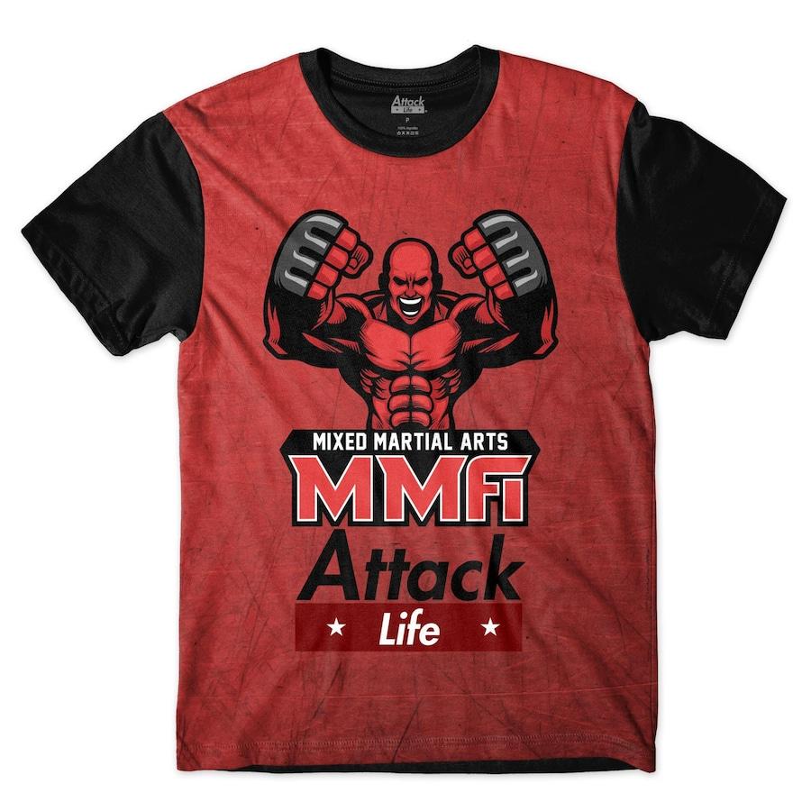 0f482f394770c Camiseta Attack Life Lutas e Musculação Lutador MMA - Masculina