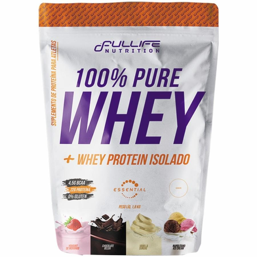 27d4d9008 100% Whey Protein Fullife Nutrition Refil - Chocolate Belga - 900 gr