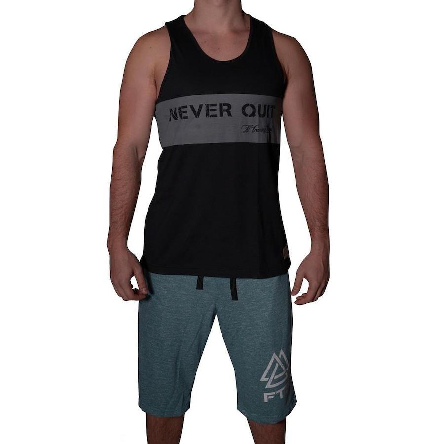 Camiseta Regata Fit Training Brasil Never Quit - Masculina 7d8fe4c9383