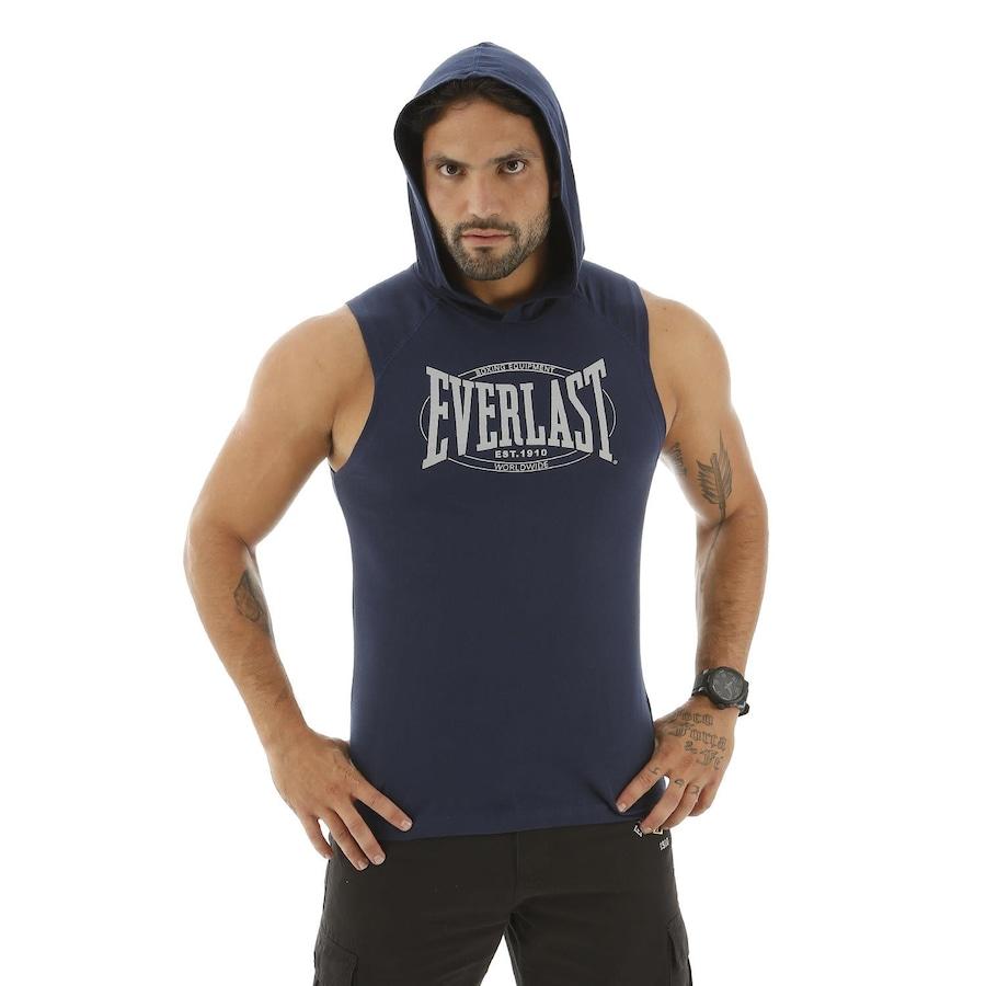 487477723d Camiseta Regata Machão Everlast com Bolso e Capuz Silk Retrô
