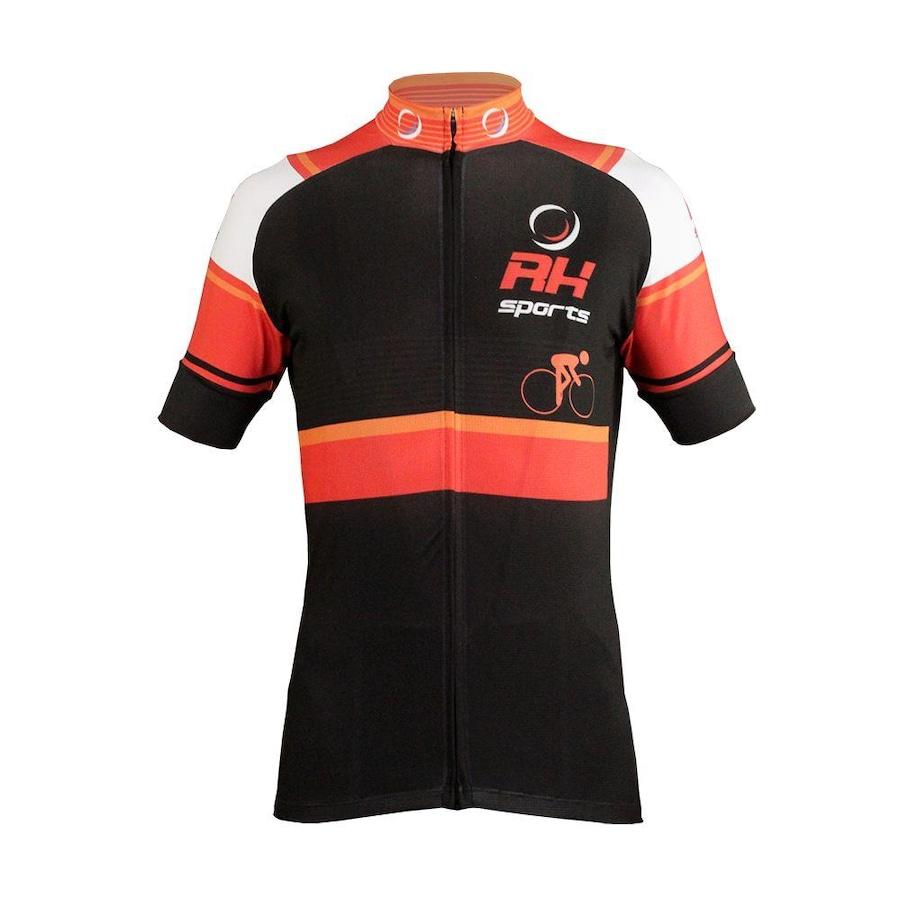 ... Camisa para Ciclismo Manga Curta RH Sports X3 - Masculino. Imagem  ampliada  Passe o mouse para ver a imagem ampliada 9186dd10719