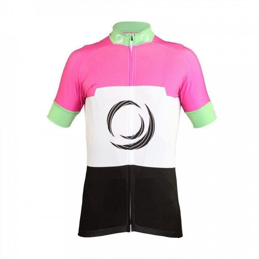 9feaa1dd4e6 Camisa Ciclismo RH X3 Manga Curta Preto/Rosa - Adulto