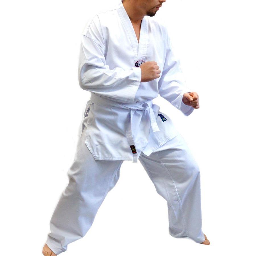 9f130b36e8e Dobok Kimono Sung Já Taekwondo Brim com Faixa - Adulto