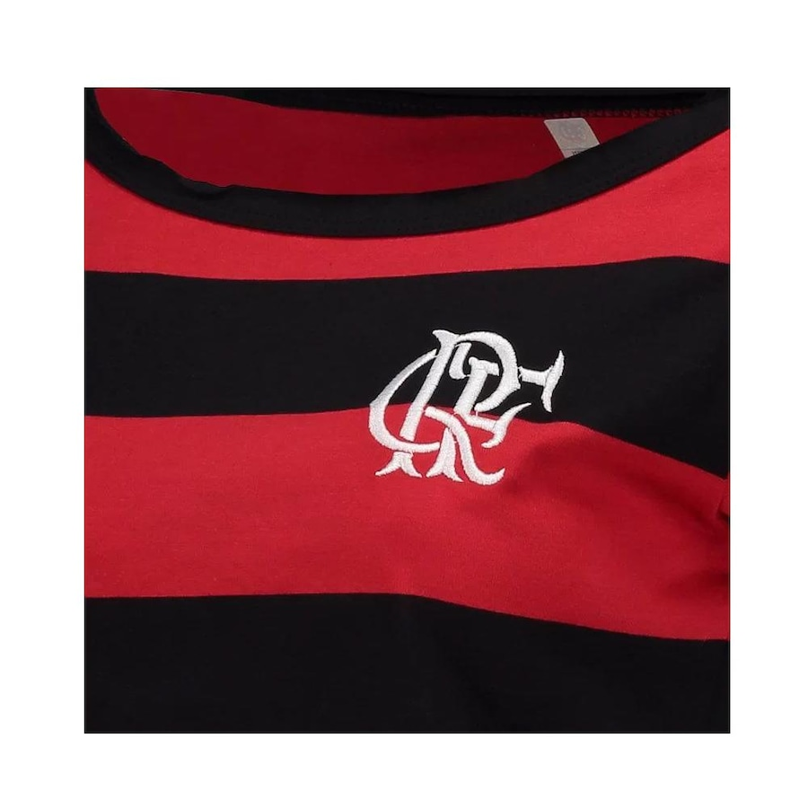 Camiseta do Flamengo Retrô Baby Look Cropped - Feminina c12813269c3f7
