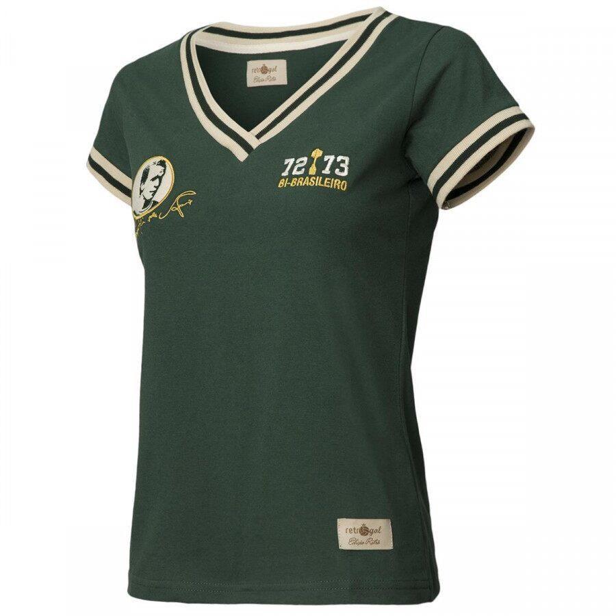 b89545ee5af55 Camiseta do Palmeiras Retrô Gol Ademir da Guia Ex - Feminina