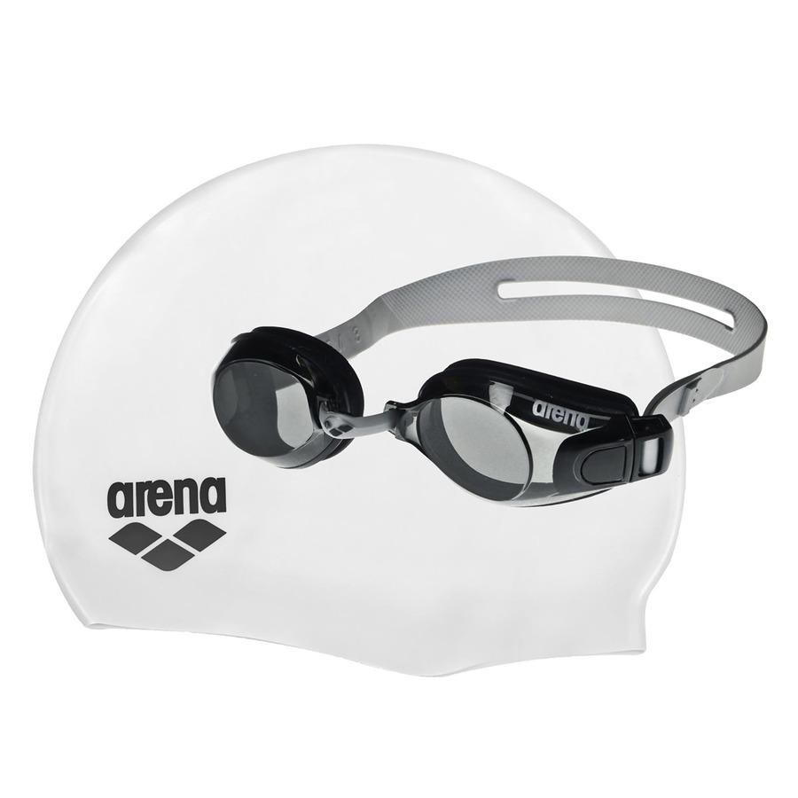 d49f7f655 Kit de Natação Arena Pool Set com Óculos e Touca de Natação - Adulto