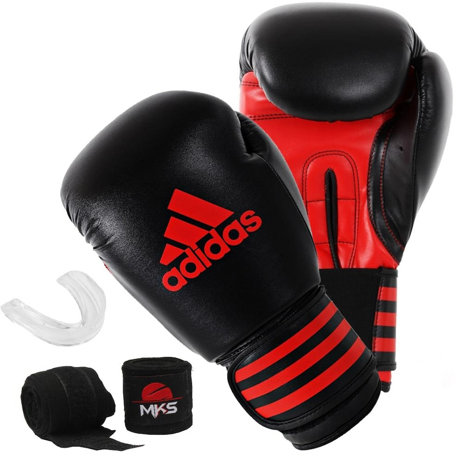 49898d2b0 Kit de Lutas  Luvas Boxe adidas Power 100 + Bucal e Bandagem MKS