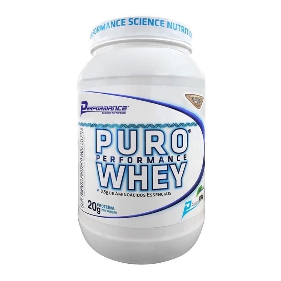 8afc6e5e4 Puro Whey Protein Sabor Cookies Cream 909g - Performance