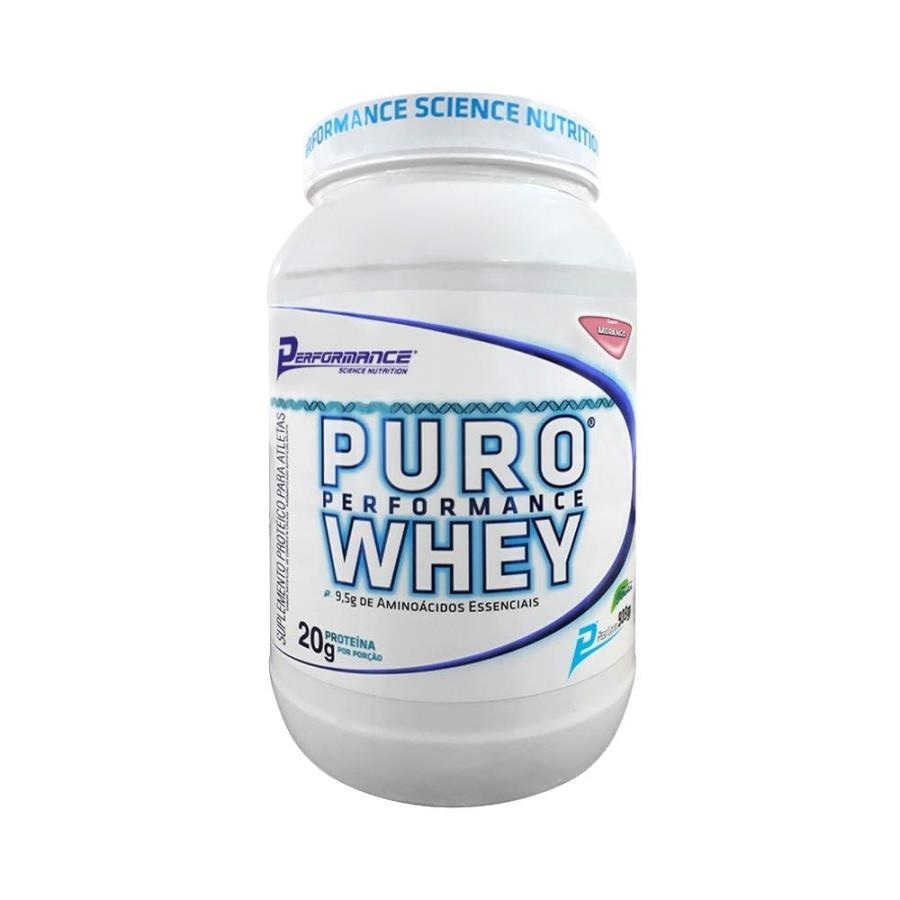 994528711 Puro Whey Protein Sabor Morango 909g - Performance