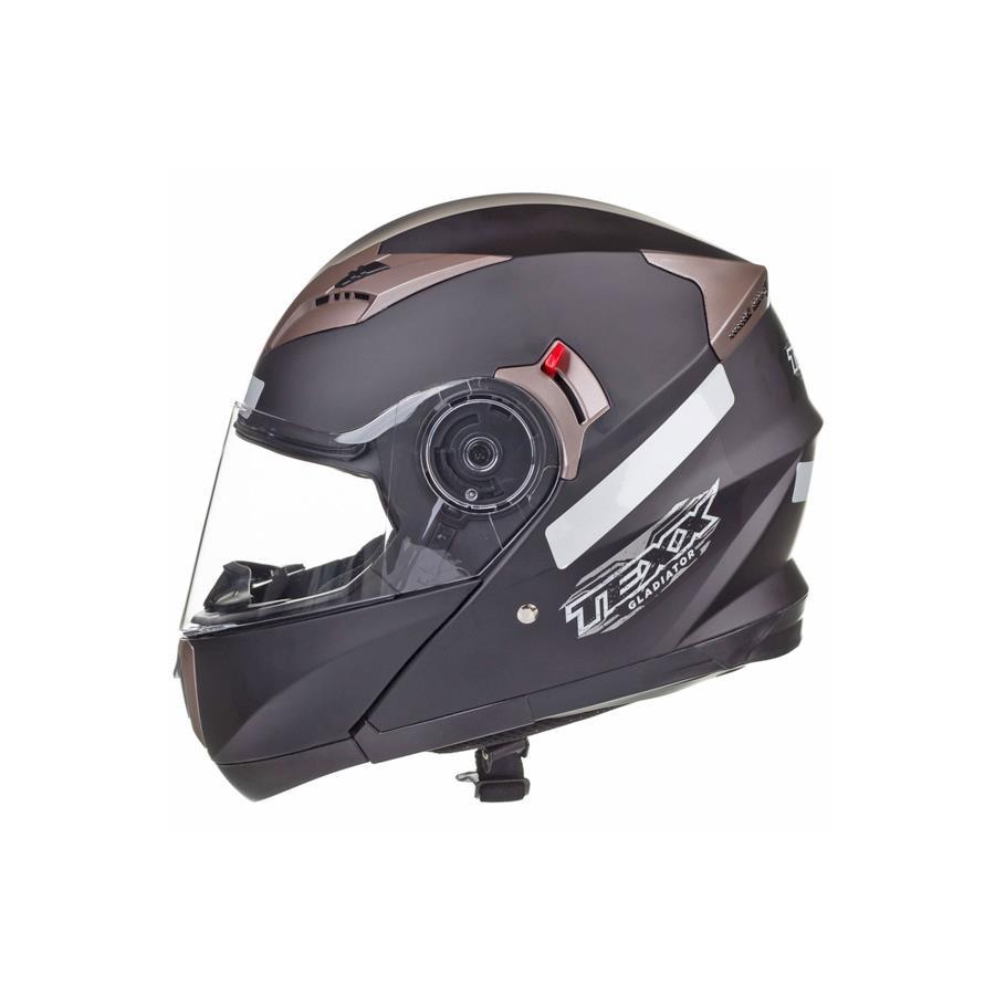 2934ad05a Capacete de Motocross Texx Gladiator Articulado III - Adulto