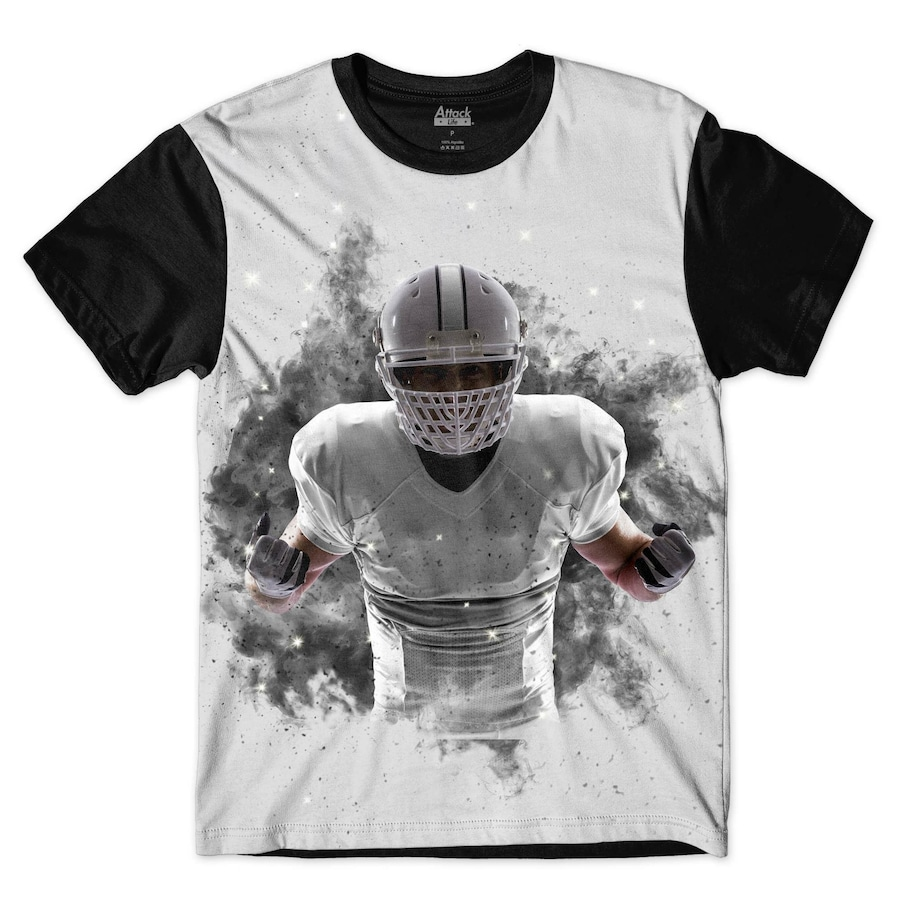 Camiseta Attack Life Futebol Americano Explosivo - Masculina 54d950ea4ae8a