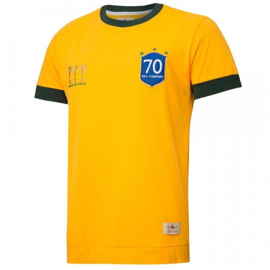 3367e2f4a6766 Camiseta do Brasil Retrô Gol Seleção 1970 Torcedor - Masculina