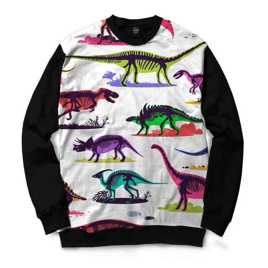 Blusão Insane 10 Fosseis Dinossauros Coloridos - Masculino 5f561977bb5