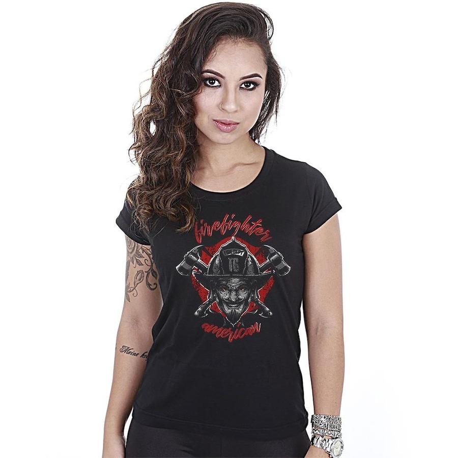 4277ae2d106 Camiseta Team Six Militar Baby Look American Firefighter - Feminina