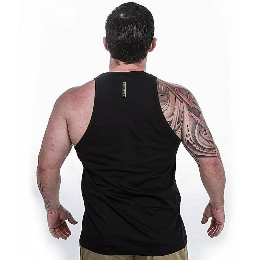ae254d3250033 Camiseta Regata Team Six Militar The Punisher Gold Line - Masculina