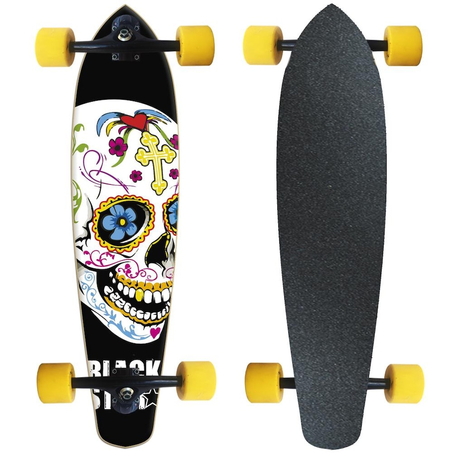 24790a6467 Longboard Black Star Fish Completo - Cruz