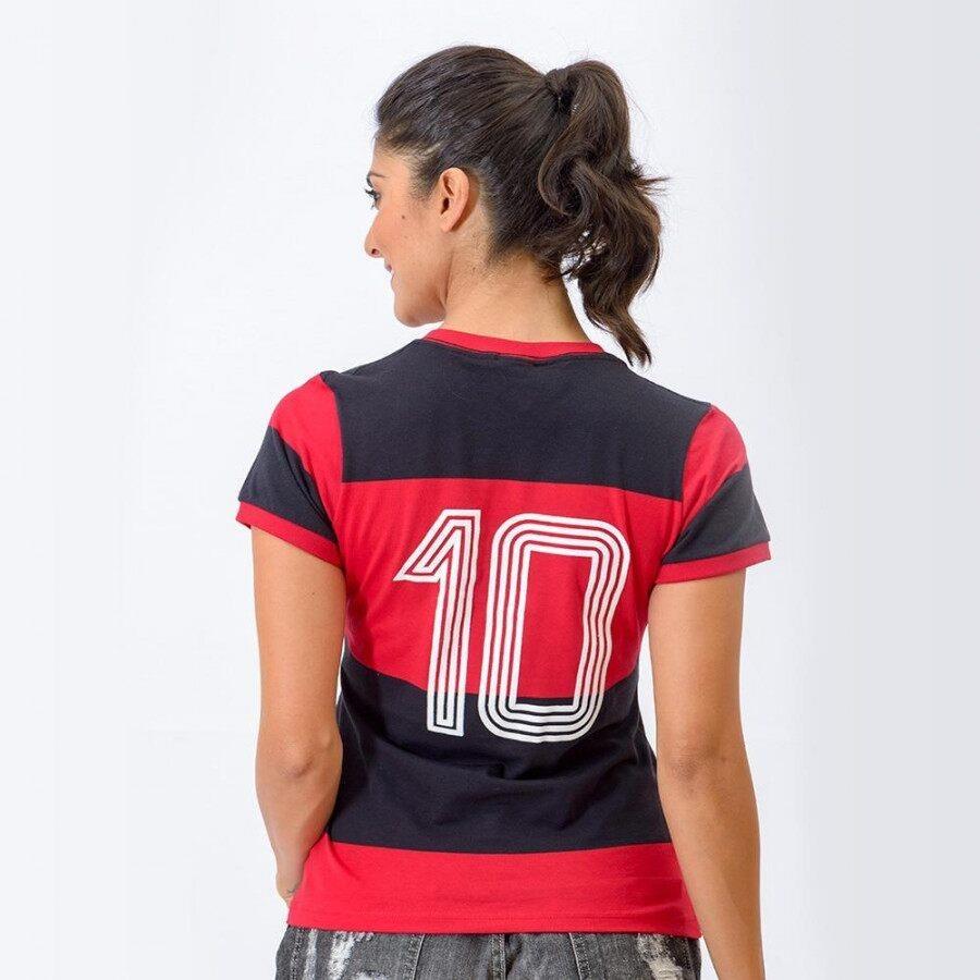 Camisa Retrô Gol Flamengo Baby Look 1981 Zico Libertadores - Feminina 266d4caf24ca5