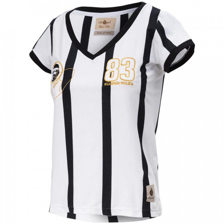 d96b6132a79c6 Camiseta do Corinthians Retrô Gol Away Sócrates - Feminina