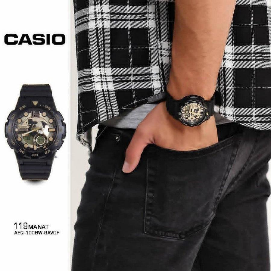 8c6be329151 Relógio Digital Analógico Casio Standard AEQ-100BW - Masculina