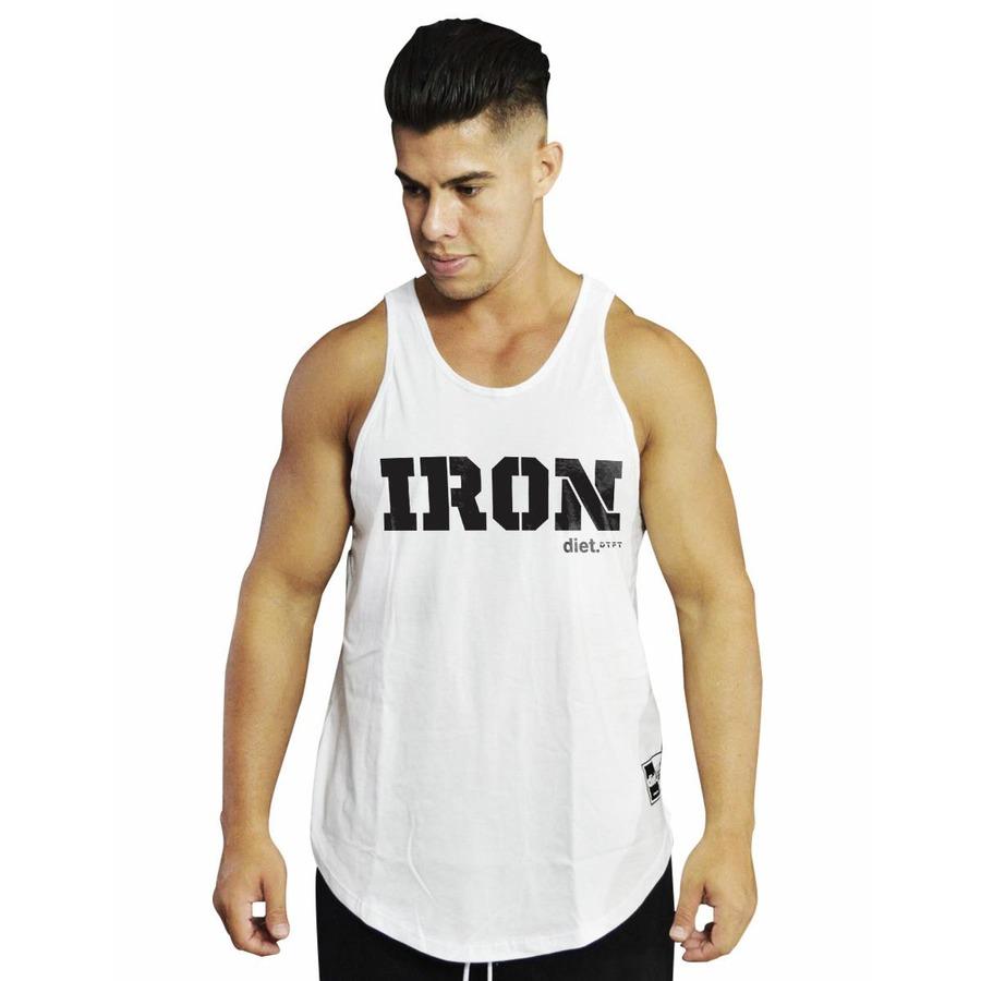 534b898f1c Camiseta Regata Diet Fitness Iron Diet Tradicional - Masculina