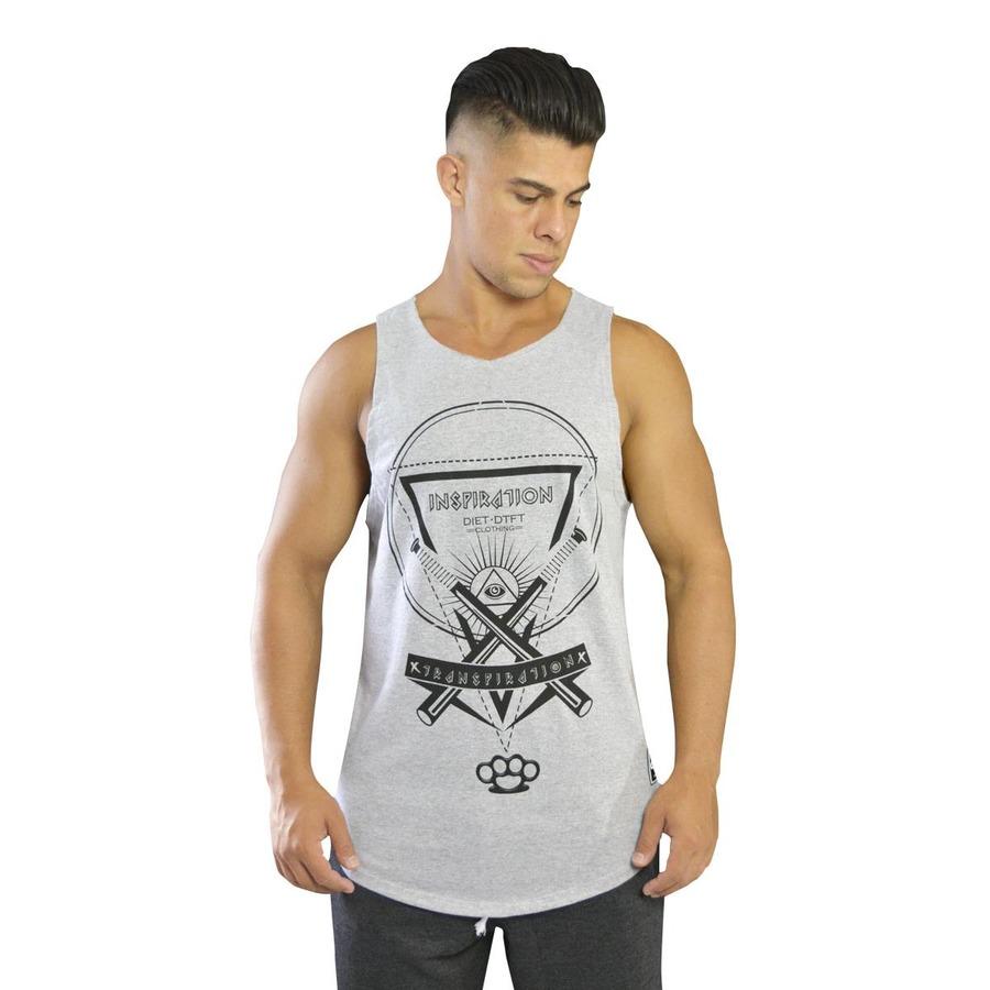 e1bb029c51 Camiseta Regata Diet Fitness Longline - Inspiration - Masculina
