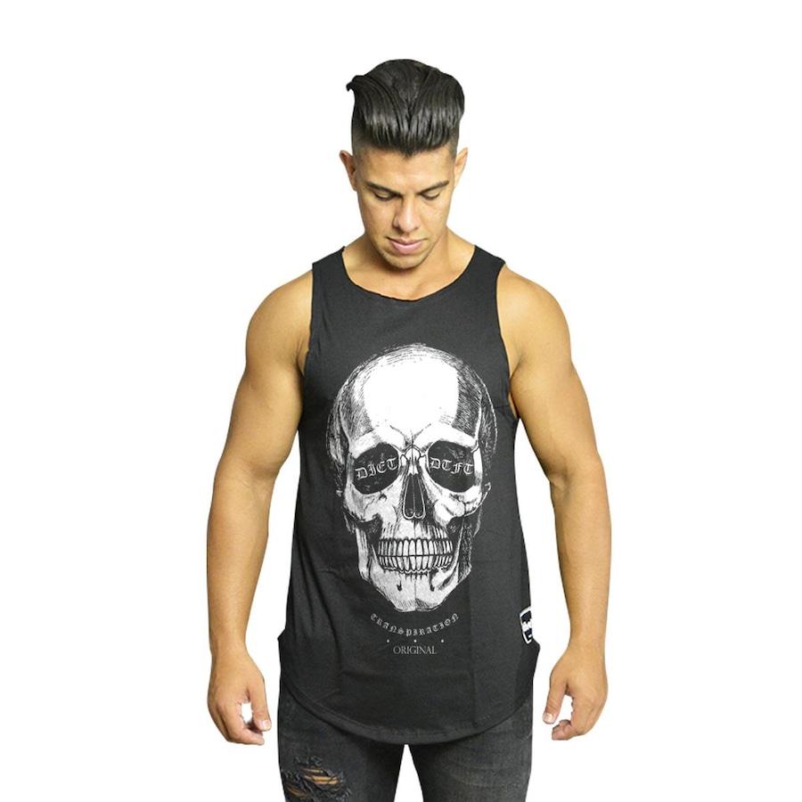 Camiseta Regata Diet Fitness Oversized S 3D Skull V3 - Masculina 6abd5fc3792
