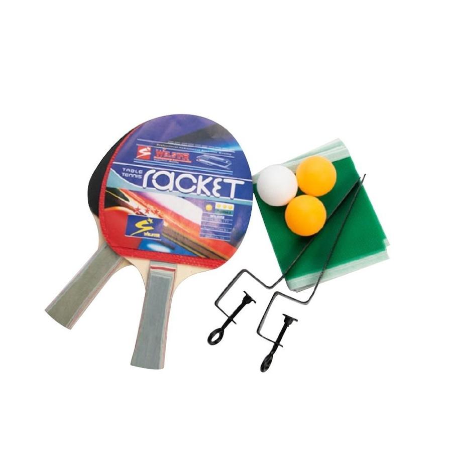 1b6c16ddf Kit Tênis de Mesa Vollke de Ping Pong  2 Raquetes + 3 Bolas + 1 Suporte ...