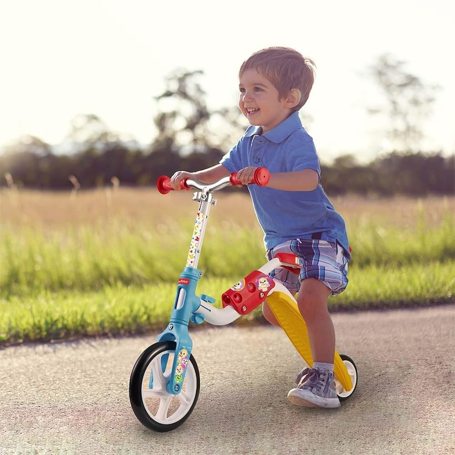 2569a1852 Patinete e Bicicleta de Equilíbrio Fisher Price 2 Em 1 - ES164
