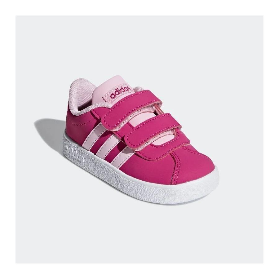 tenis adidas vl court rosa