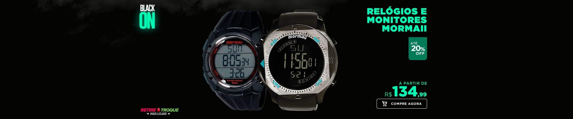 Relógios e monitores Mormaii