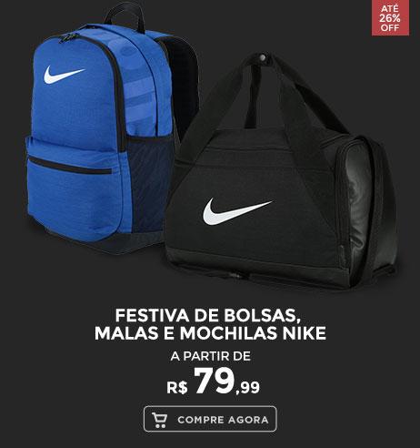 Festiva de Bolsas, Malas e Mochilas Nike