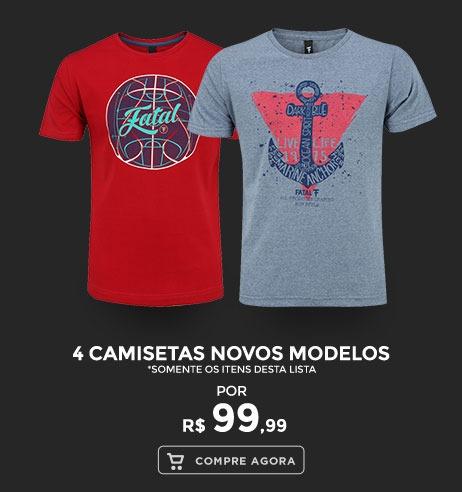 4 Camisetas Novos Modelos