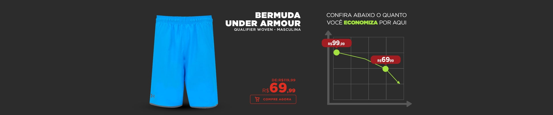 Bermuda Under Armour Qualifier Woven - Masculina